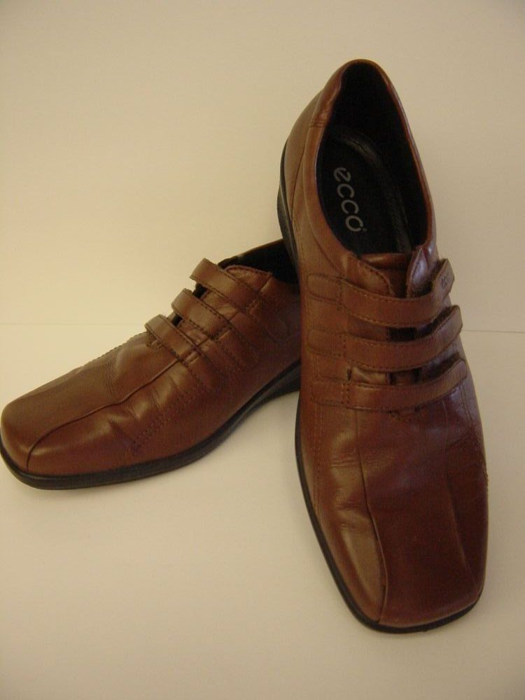 Shoes Womens Leather ECCO Light Brown Size 40 Eur 9 - 9 1/2 US 3 ...