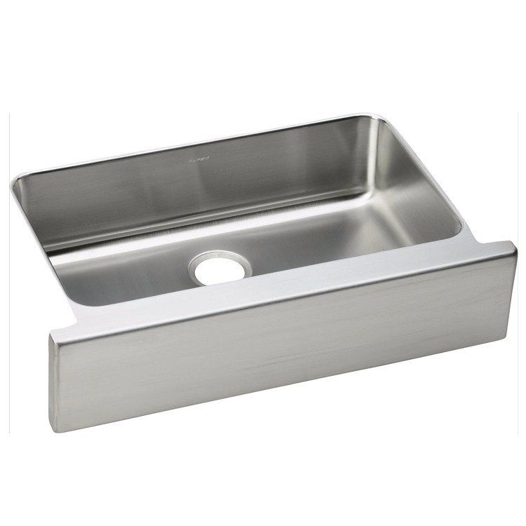 Stainless Farmhouse Sink 33 Elkay Lustertone Single Bowl