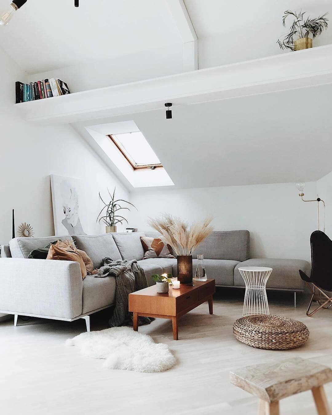 westwingde on Instagram The sloping roof makes this living room so incredibly cozy   gregoryroom   Westwing Home  Living Germany on Instagram The sloping roof makes this...