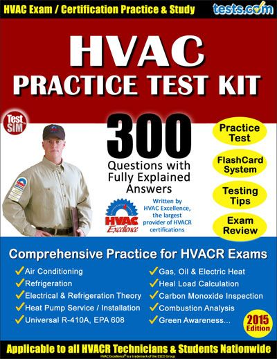 Hvacr Practice Test Kit Hvac Hvac Jobs Hvac Certification