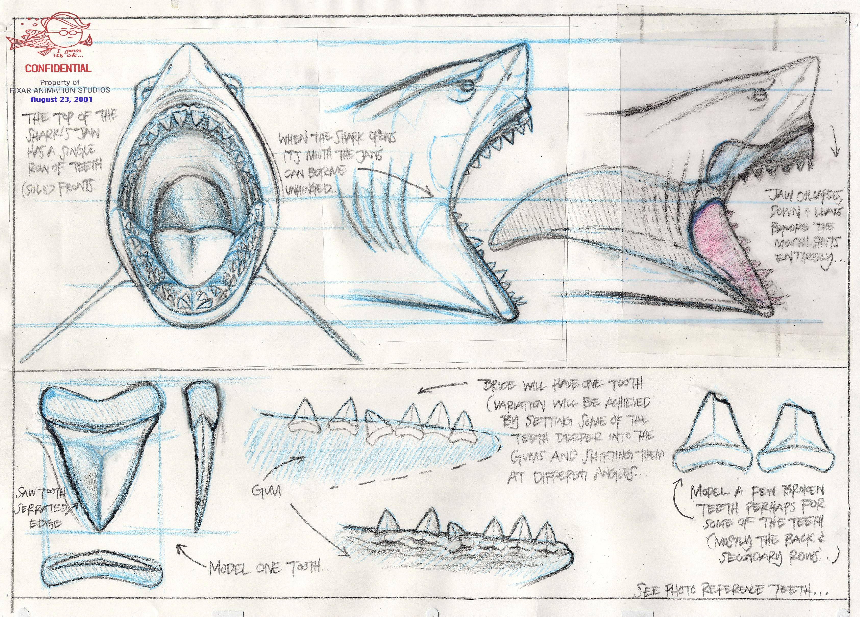 Design muse shark week - 18 Pieces Of Finding Nemo Concept Art You