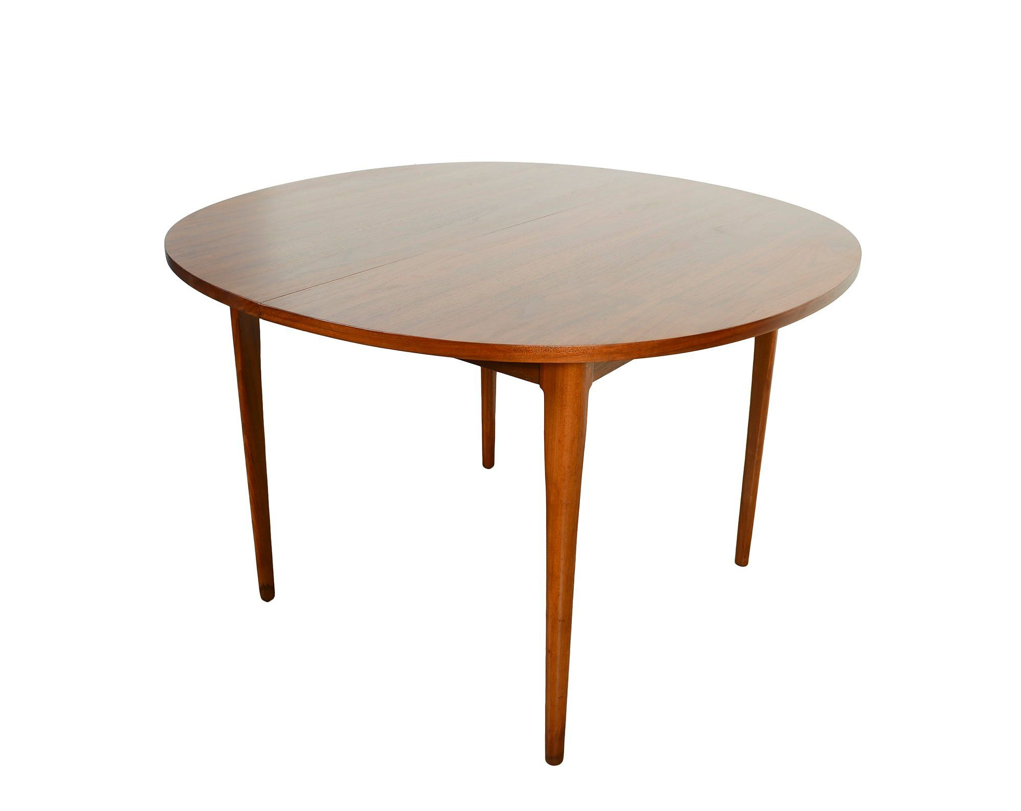 Walnut Dining Table Drexel Declaration Mid Century Modern Round