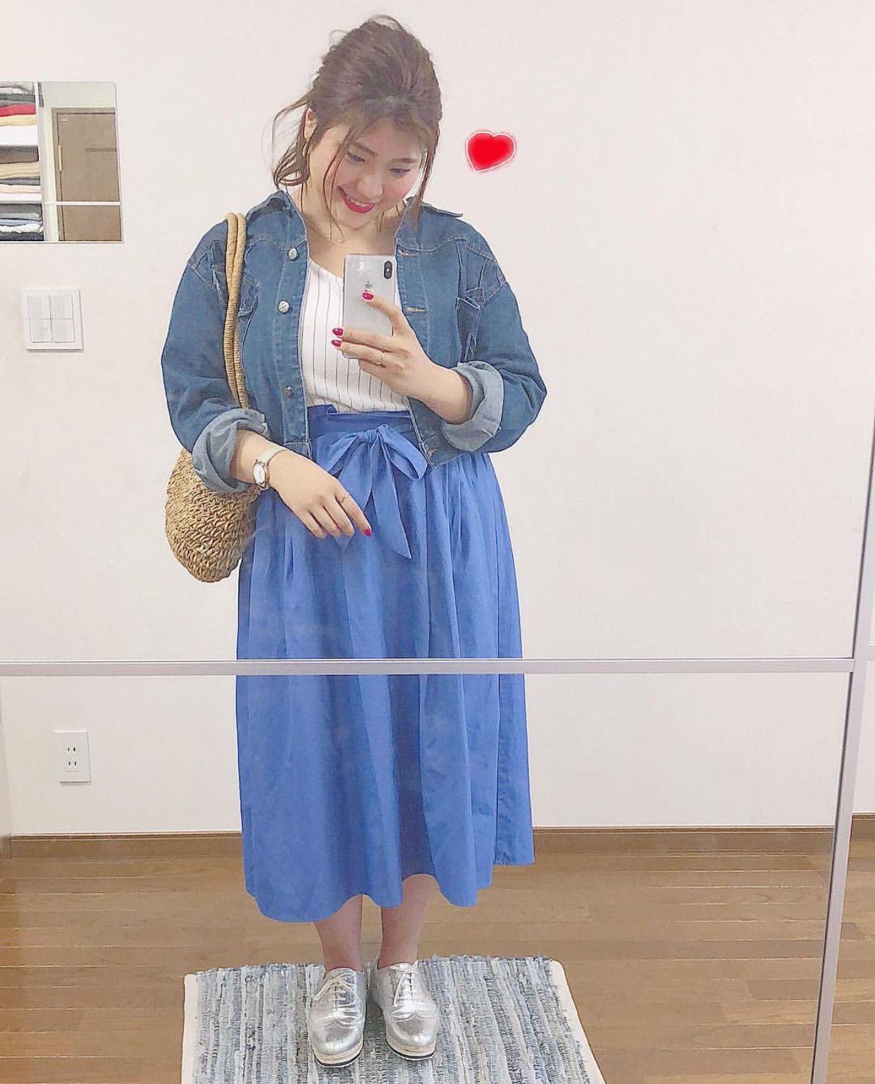 7dd53fd59b766 太っている人も着れる可愛いコーデ」おしゃれまとめの人気アイデア ...