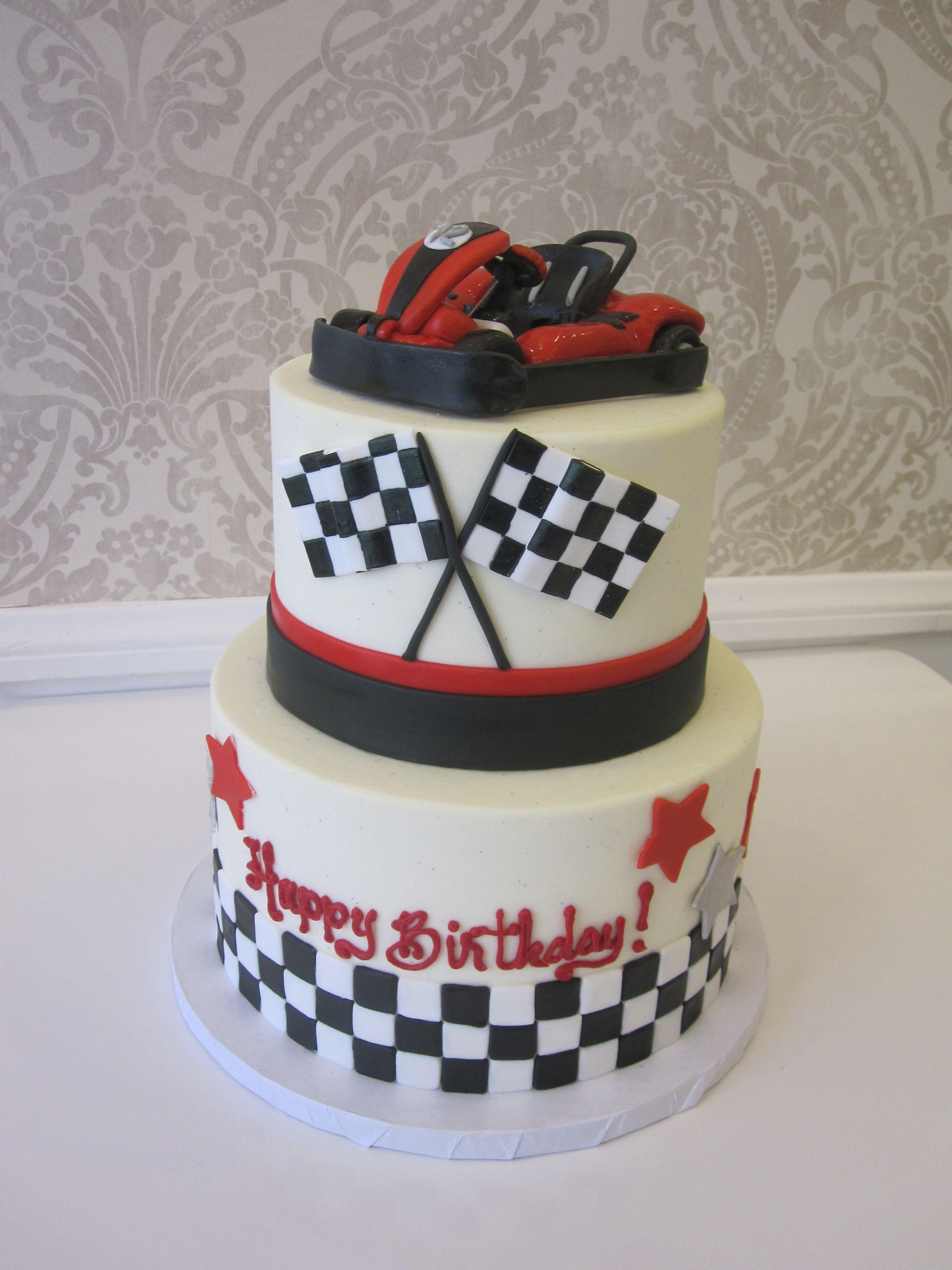 Superb Go Kart Cake By Vanilla Bake Shop Boy Birthday Cake Race Car Funny Birthday Cards Online Aboleapandamsfinfo
