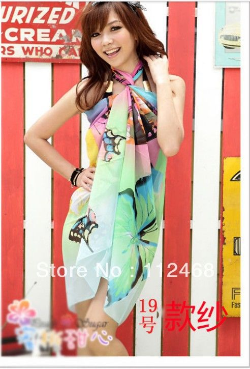 082cdf9b26110 1 pcs Coverup Sarong Pareo Bikini Wrap Dress free shipping-in Cover ...