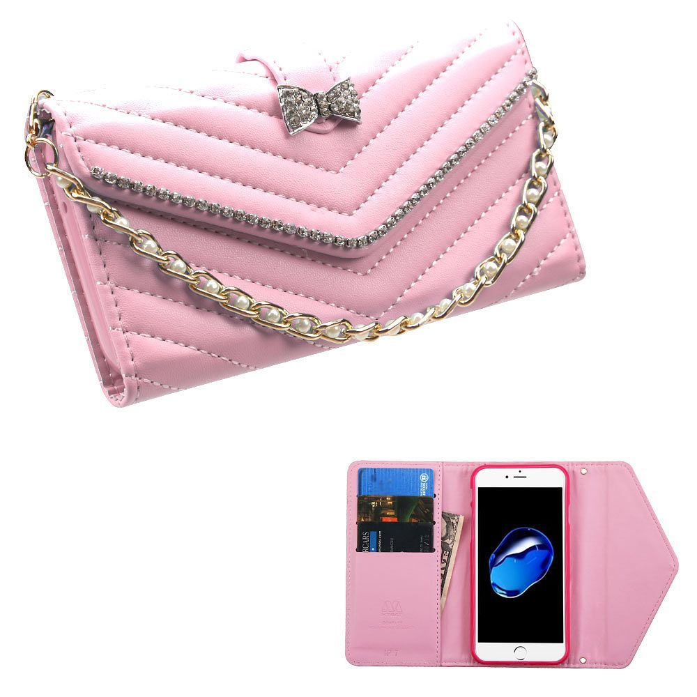 Bookstyle leather wallet fabric case bracelet with card