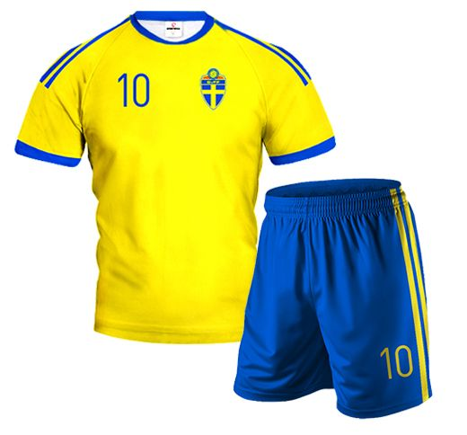 565defcae71fe0 SWEDEN Home Football Kit With Custom Name and Number | FOOTBALL ...