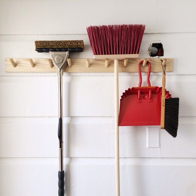 the way to get excited about cleaning pretty brooms and dustpans