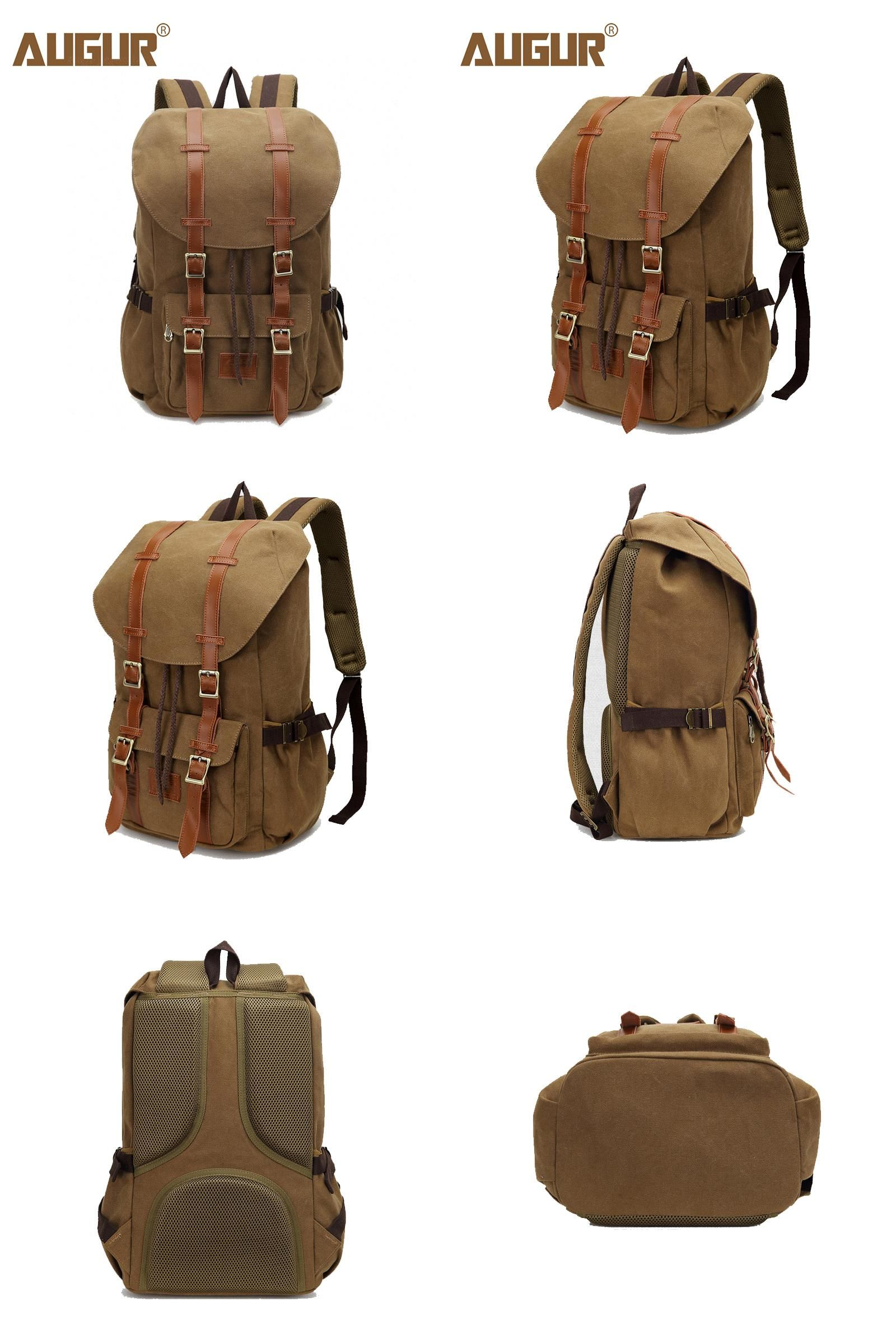 e039146f28  Visit to Buy  2017 NEW AUGUR Canvas Backpack Travel Bags For Men Women