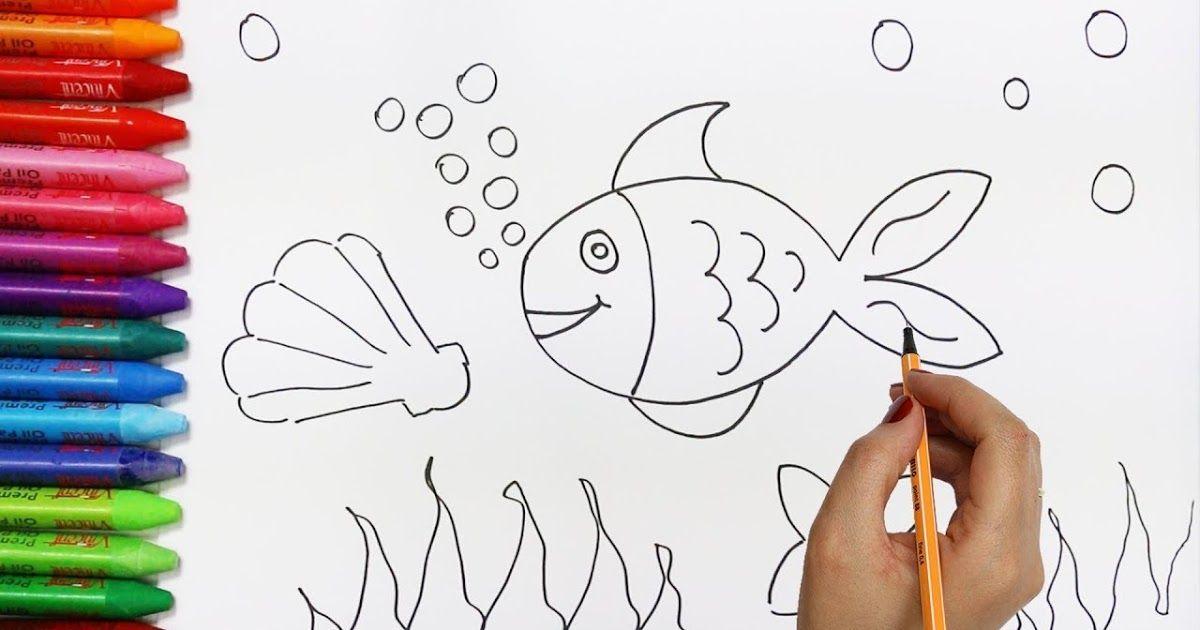 Bagaimana Menggambar Ikan Cara Menggambar Dan Mewarnai Tv Anak Tips Cara Menggambar Ikan Dengan Mudah Penulis Cilik Ca Cara Menggambar Buku Mewarnai Gambar