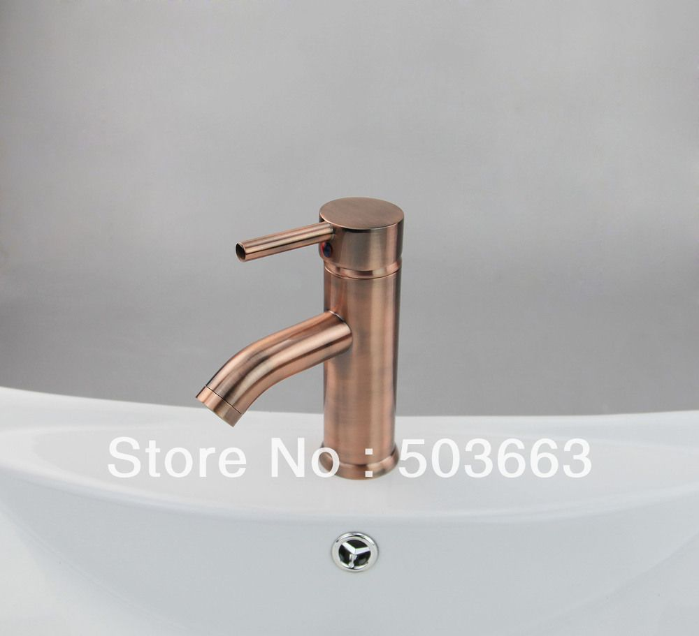 Free Shipping Antique Copper Vessel Sink Faucet Sink Mixer Tap Basin ...