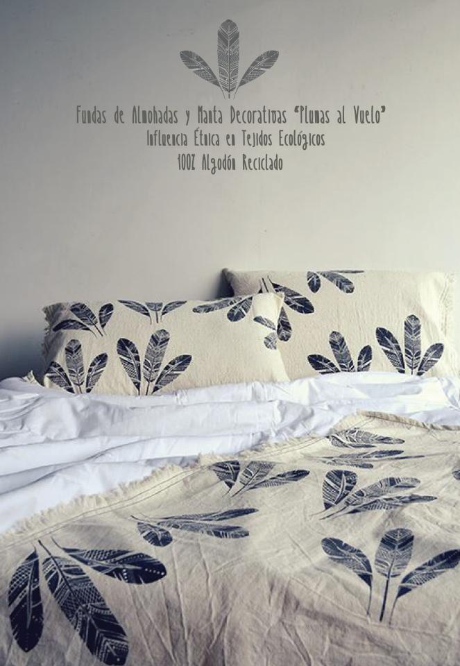 Manta y Fundas de almohadas decorativas Influencia étnica en tejidos ...