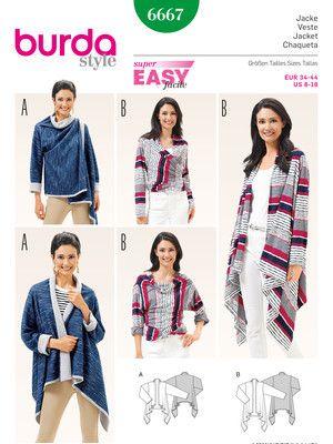 6667 ESB | Jacken,Kimonos etc | Pinterest | Nähen