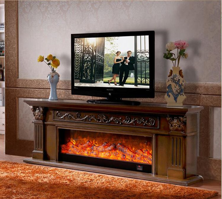 Living Room Decorating Warming Fireplace Wooden Fireplace Mantel W200cm Electric Fireplace Insert Led Optical Arti