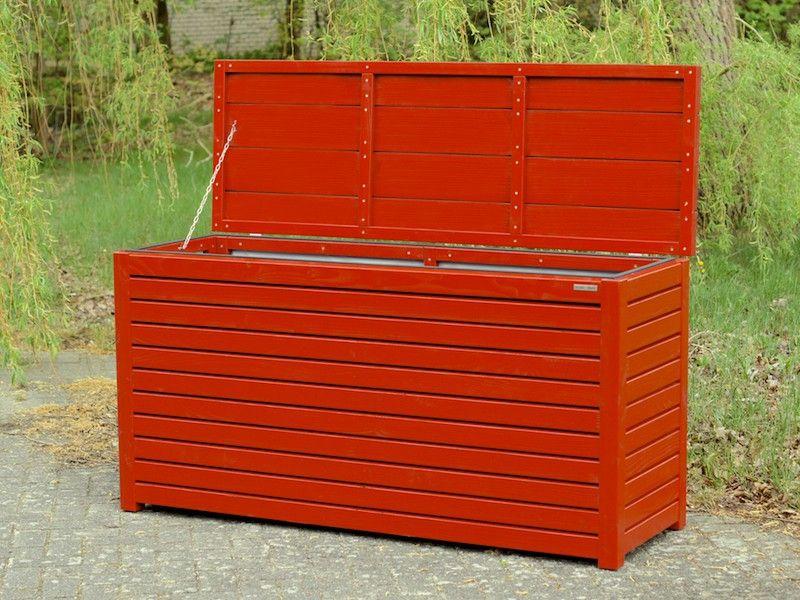 Kissenbox Auflagenbox Holz Nordisch Rot Made In Germany Binnen Markt Auflagenbox Kissenbox Box Truhe Kissentru Kissenbox Auflagenbox Gartenbox Holz