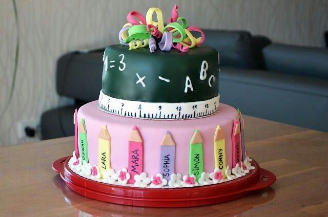 Kuchen Zu Einschulung Mit Bildern Lehrer Kuchen Kuchen Einschulung Torte Einschulung