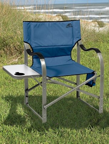 Alps Extra Wide Folding Chair With Side Table Folding Chair Outdoor Chairs Folding Camping Chairs