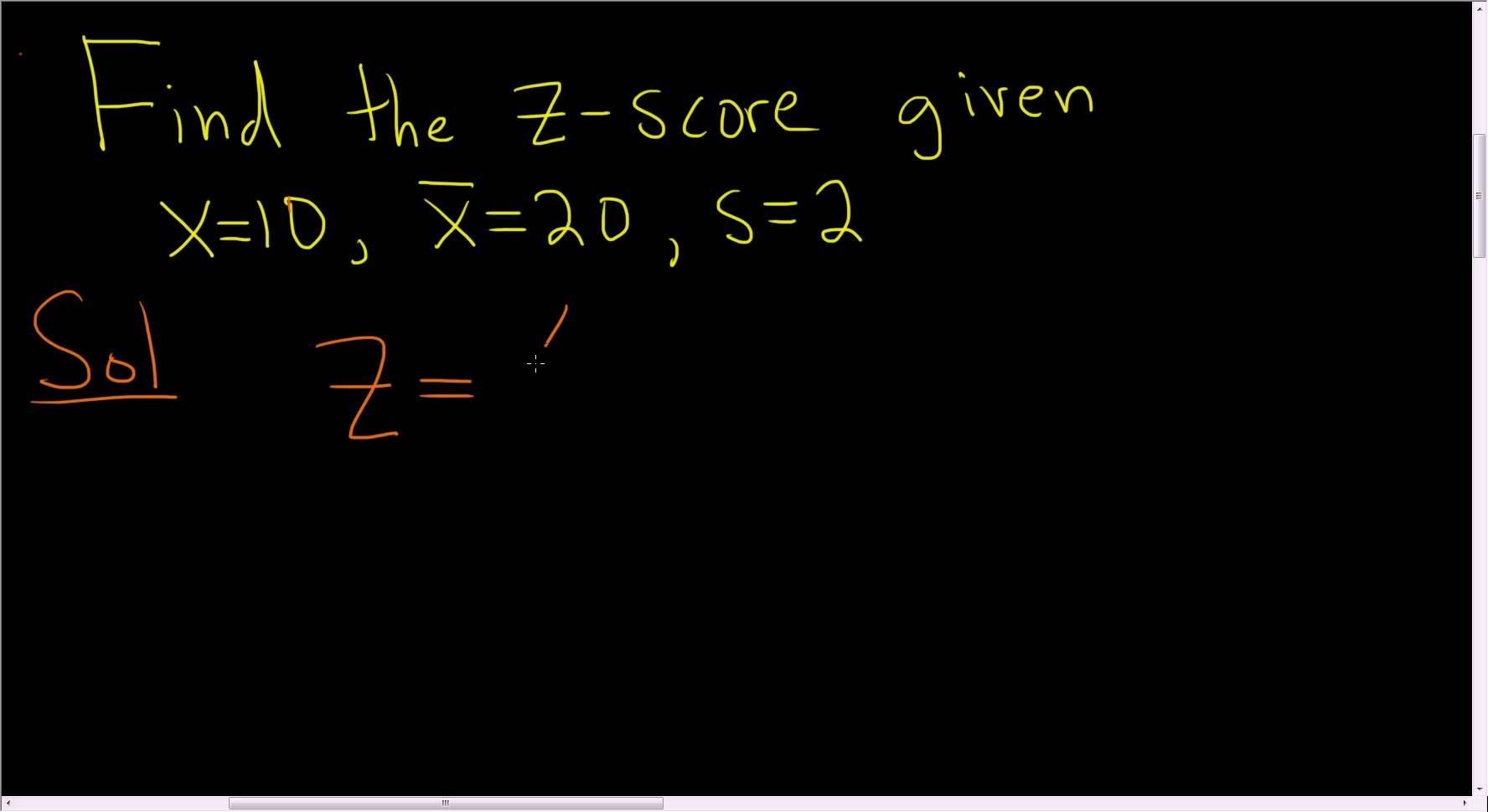 Finding The Z Score Of X With The Formula