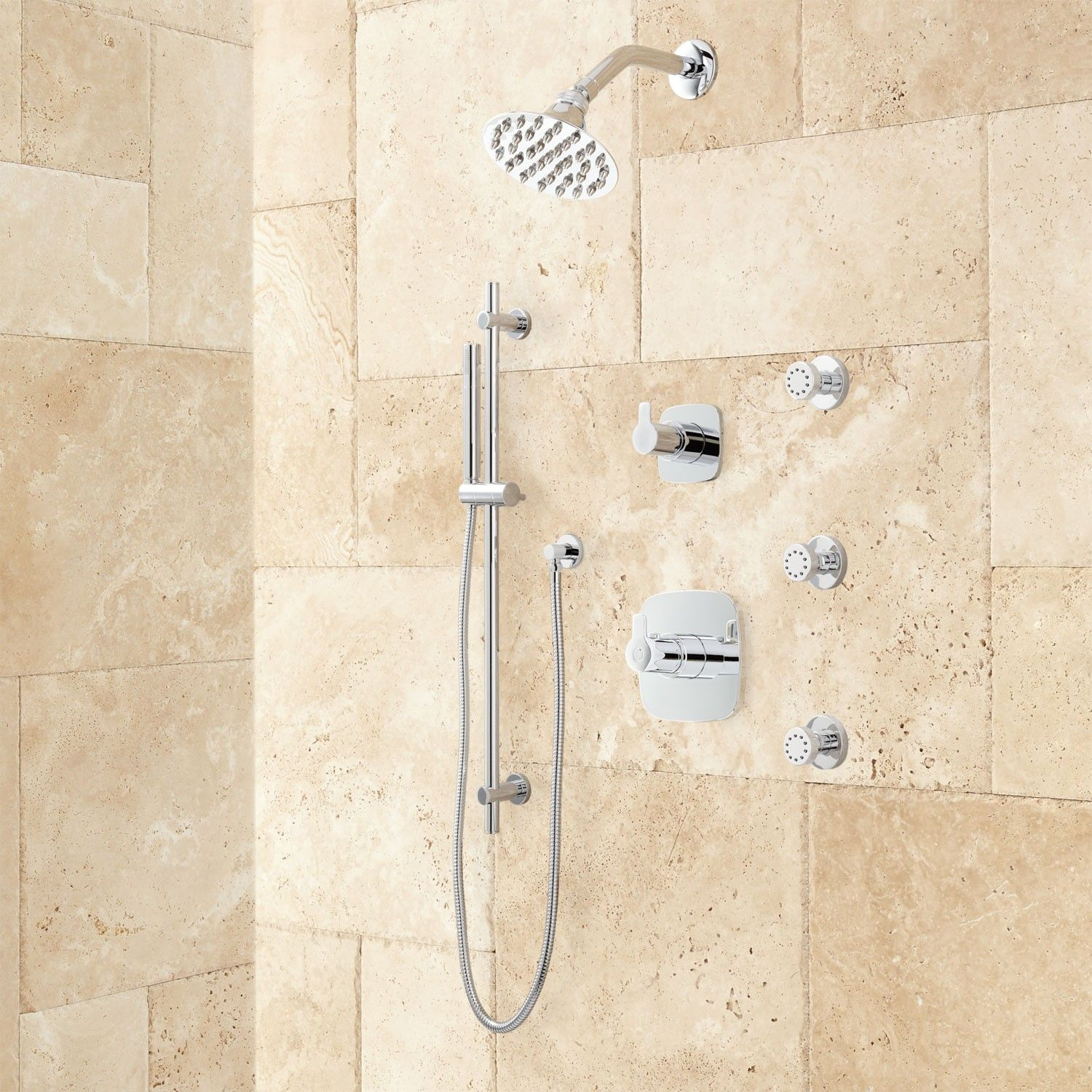 Lindstrom High Flow Shower System with Hand Shower and Body Jets ...