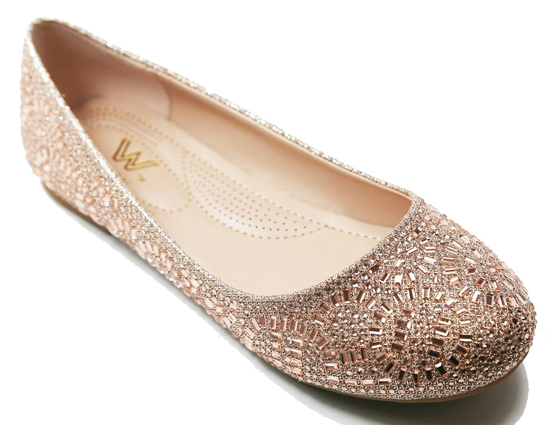 ef9dd227d Women Casual Rhinestone Flat Shoes Slip On Ballet Flat Shoes Comfort ...