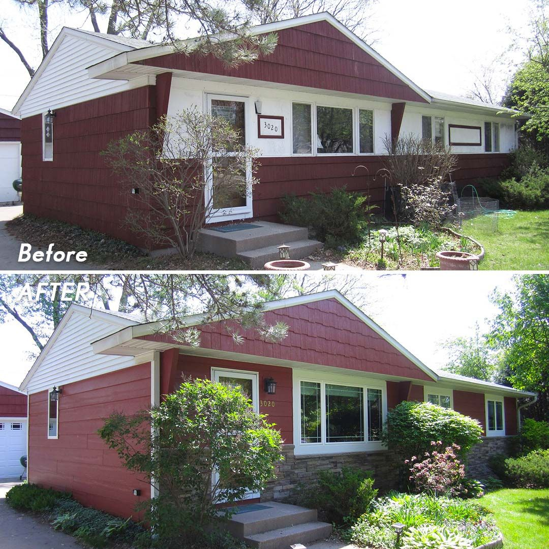 Lp Smartside Before After Autumn Red Installing Siding Siding Siding Trim