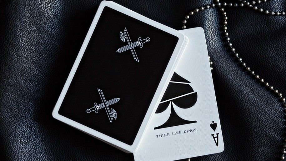 KINGS BLACK PLAYING CARDS