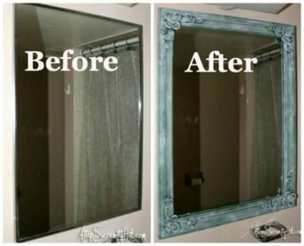 Bath Room Remodel Before And After Framed Mirrors 61 Super