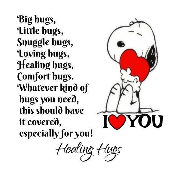 Snoopy I Love you Quote … | Snoopy i love you, Hug quotes ...