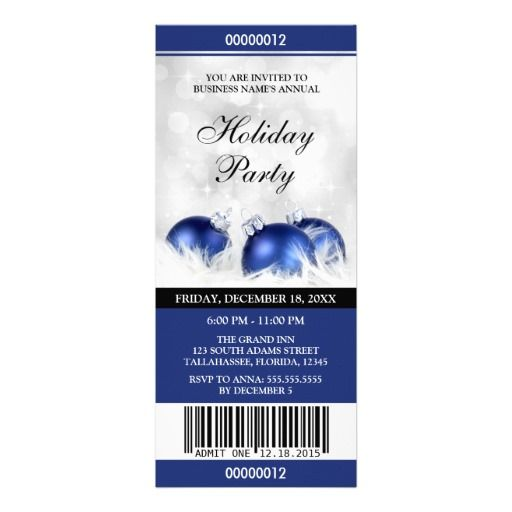 Business Holiday Party Ticket Invitations Christmas And Holiday - fundraiser invitation templates