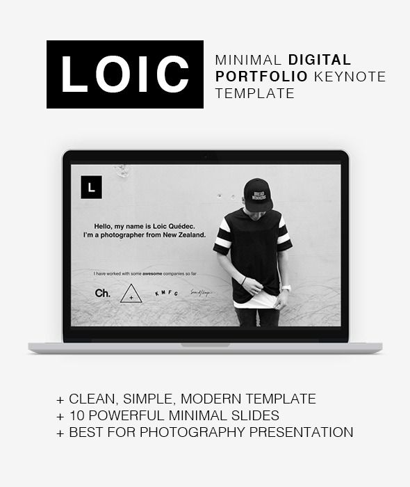 Loic - Minimal Digital Portfolio Keynote Template Keynote - professional power point template