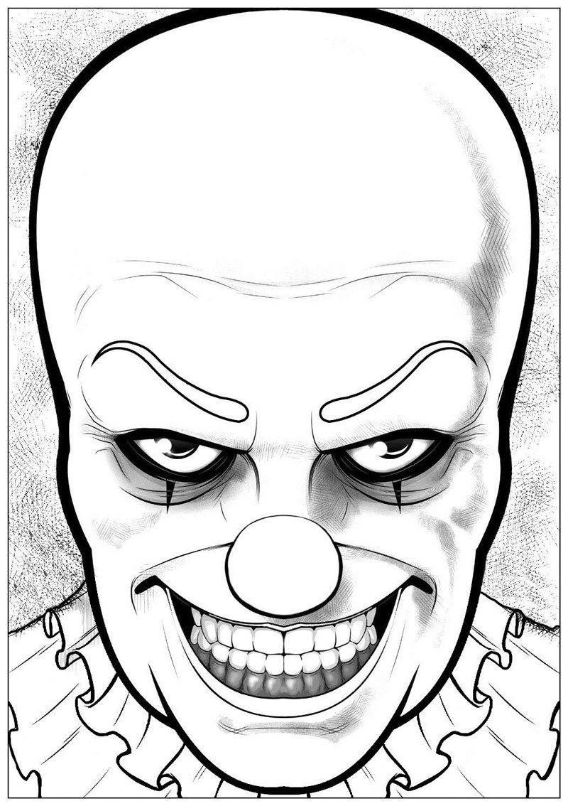 Easy Scary Halloween Drawings : scary, halloween, drawings, Pennywise, Coloring, Pages, Ideas, Printable, Sheets, Halloween, Printable,, Coloring,, Drawings