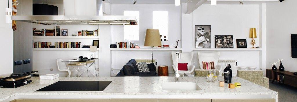 Encimera cocina y fregadero blanco orion silestone - Fregaderos de granito para cocina ...