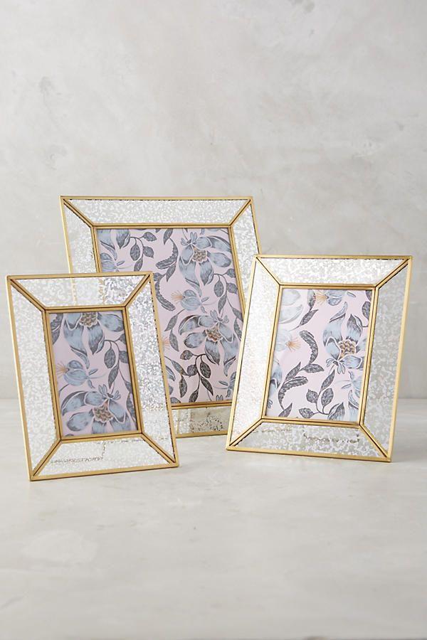 Mercury Glass Frame | More Mercury glass and Room ideas