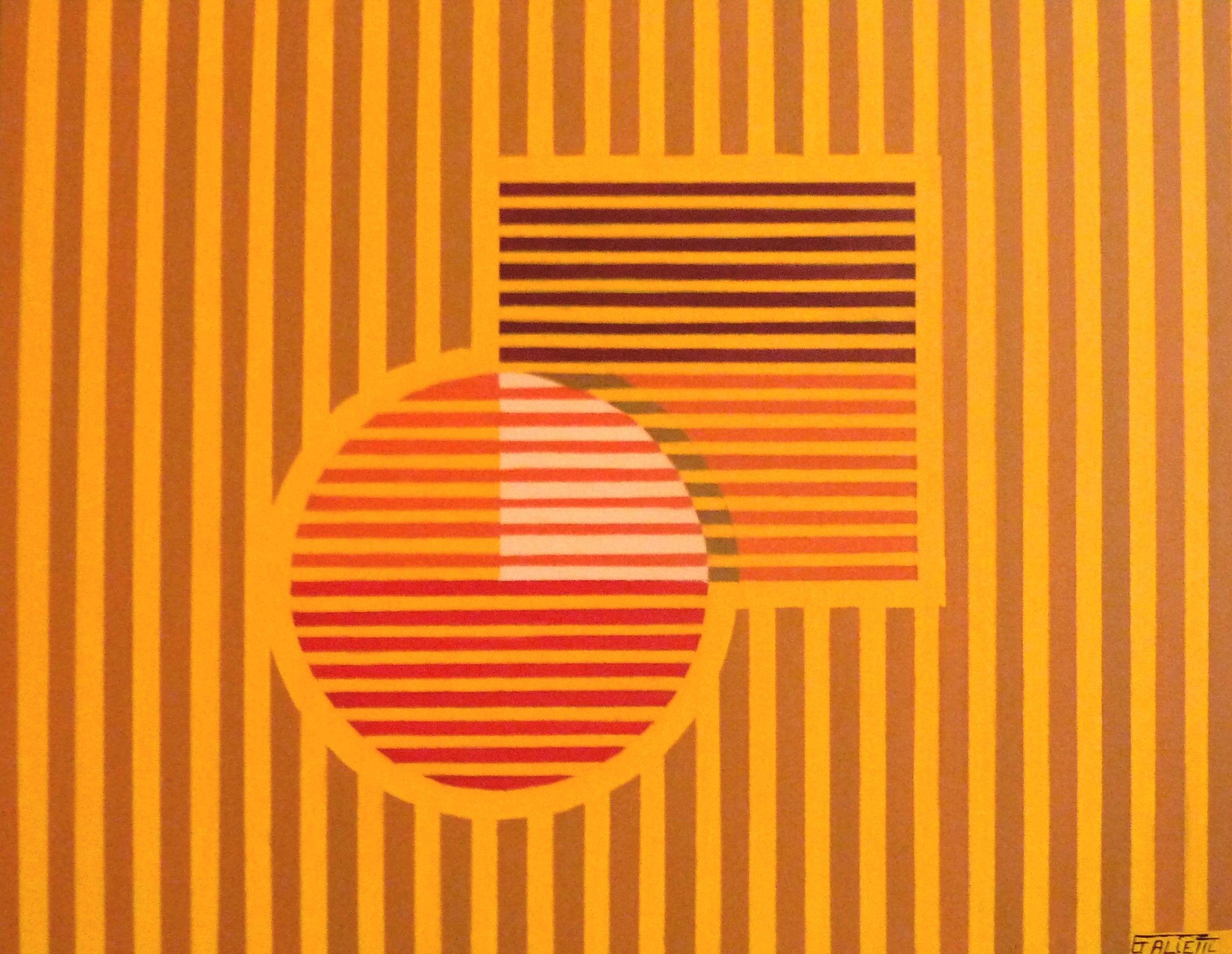 Op Art série jaune N°43 D.Galietti