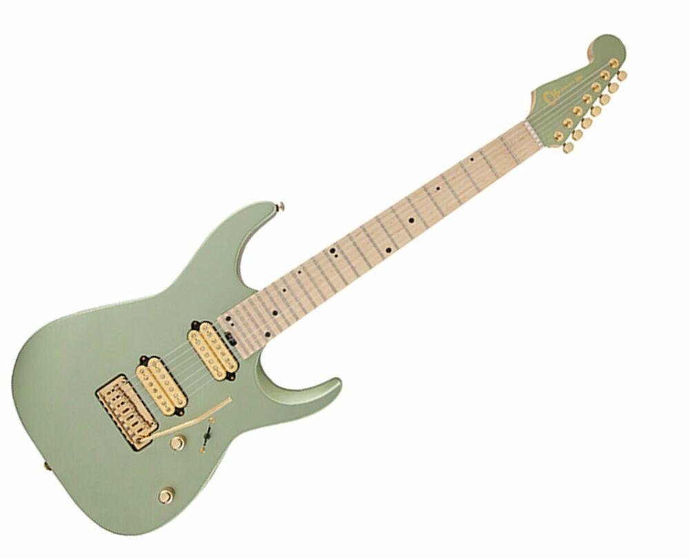 Charvel Angel Vivaldi Signature Dk24 7 Nova Satin Sage Green Used Vivaldi Electric Guitar Case Guitar