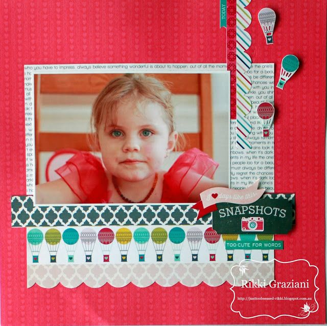 Just Too Obsessed: Scrapbook Savvy Septemeber Challenge