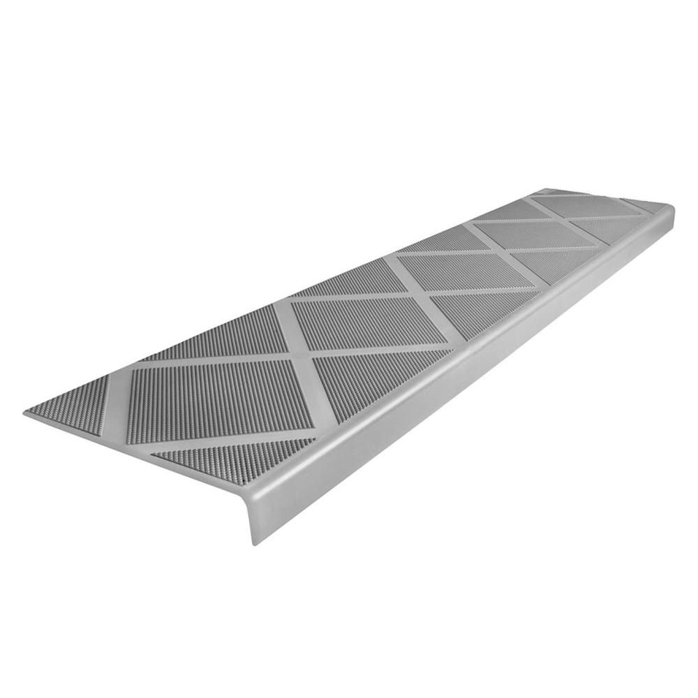 Composigrip Composite Anti Slip Stair Tread 48 In Grey Step Cover 01106c The Home Depot Stair Treads Outdoor Stairs Stairs Covering