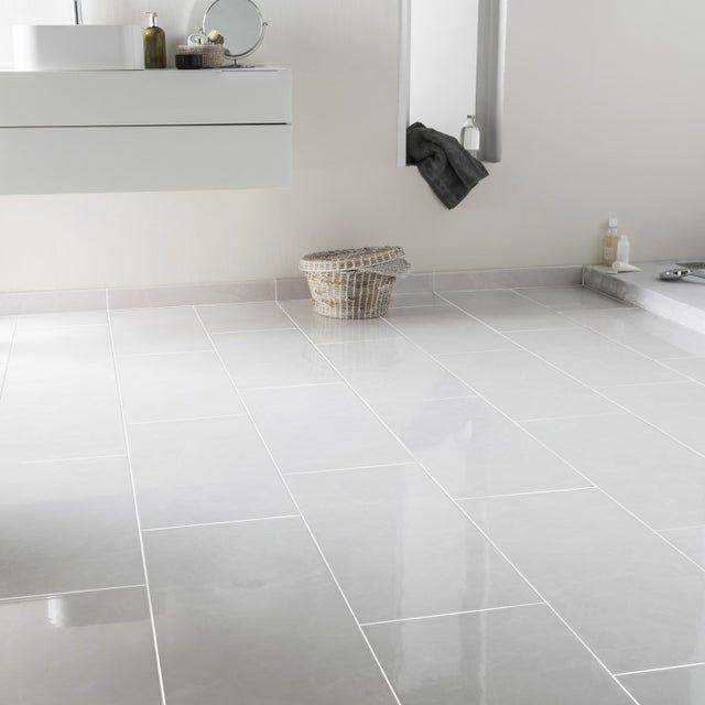 Carrelage Sol Et Mur Forte Effet Marbre Blanc Olympie L 30 X L 60 Cm
