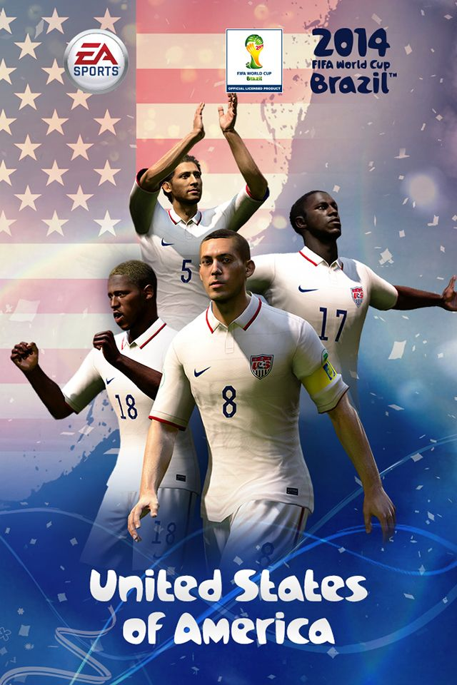 2014 Fifa World Cup Usa Team Iphone 4s Wallpaper Fifa Worldcup2014 Brazil World Cup Usa Soccer Team World Cup Teams