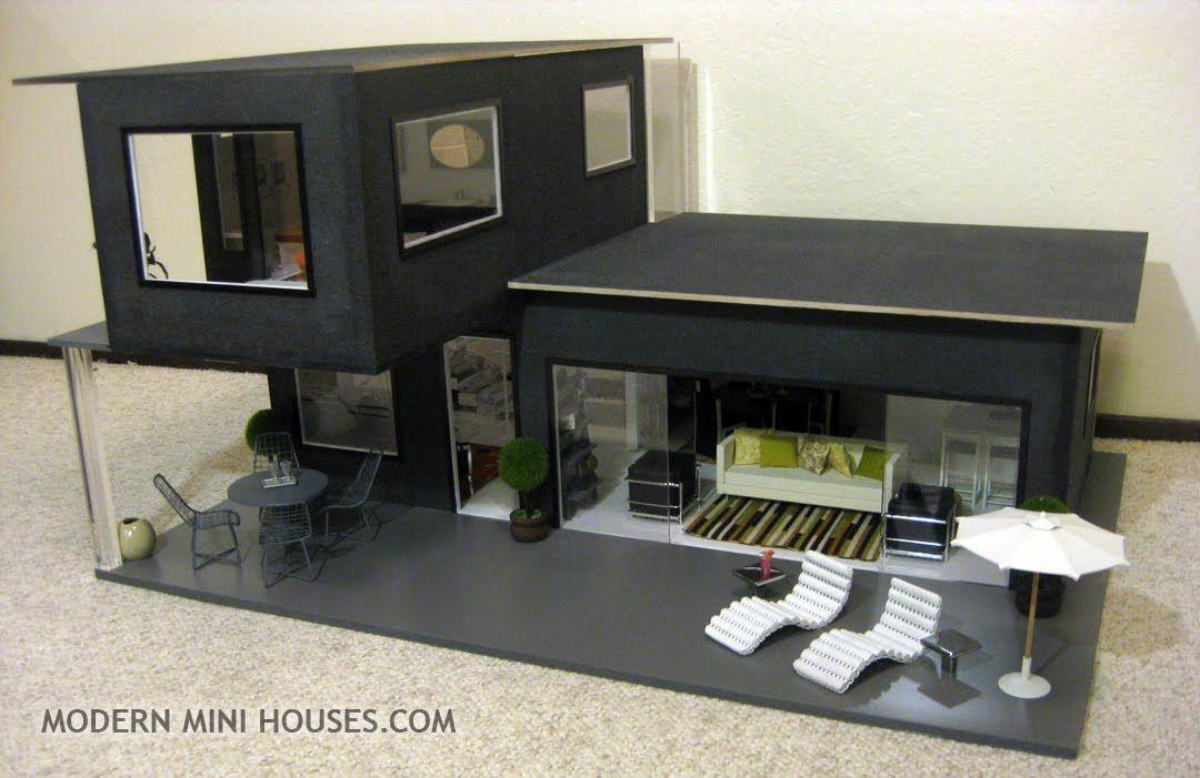 modern mini houses i 39 m a giant crazy person doll house pinterest haus miniatur und. Black Bedroom Furniture Sets. Home Design Ideas
