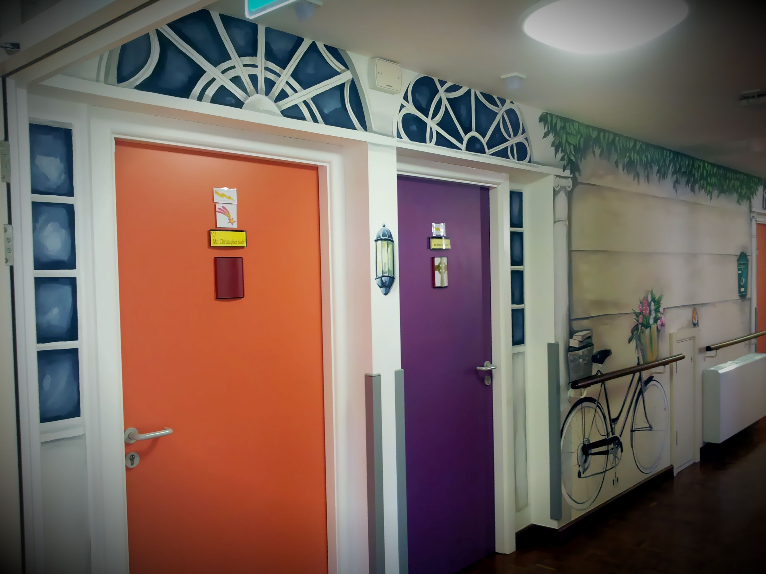 Street view dublin gregorian door hand painted corridor in