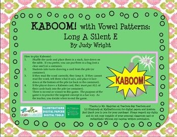 Kids love to play Kaboom!  It is a fun way to practice vowel phonics patterns, and help students gain automaticity in reading specific phonics patterns.