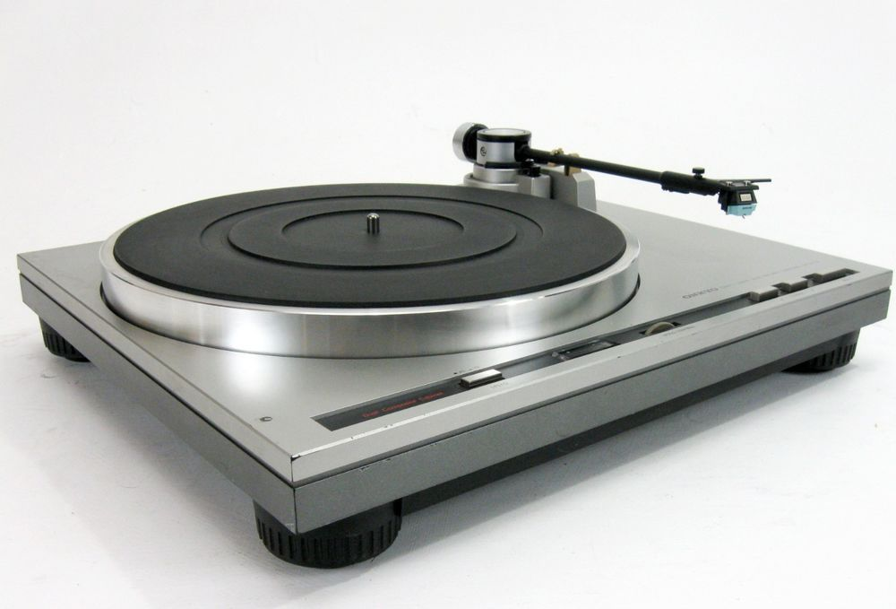 ONKYO CP 1017A DIRECT DRIVE TURNTABLE W SHURE SC35C NEW STYLUS * NICE! #