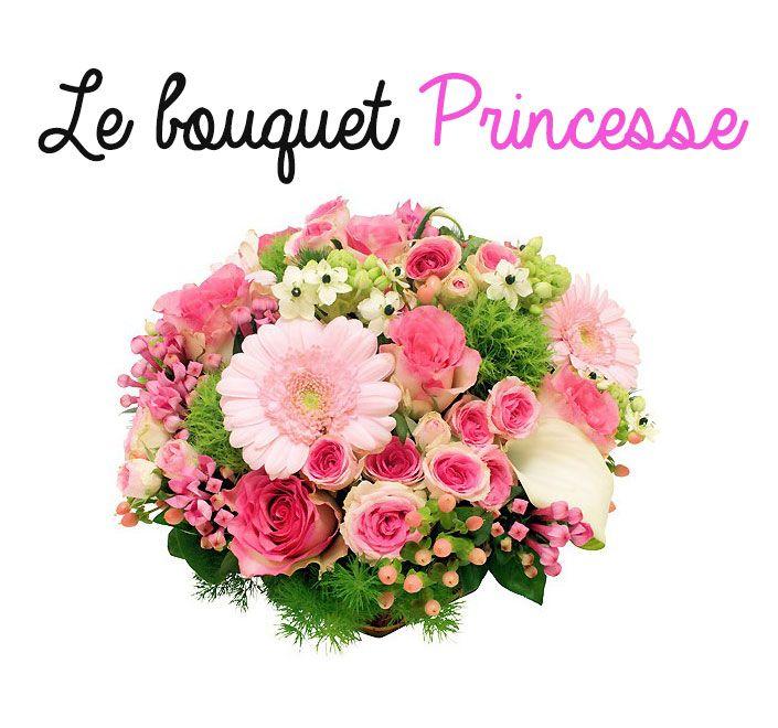le bouquet princesse dans les tons de rose est id al offrir pour un anniversaire ou une f te. Black Bedroom Furniture Sets. Home Design Ideas