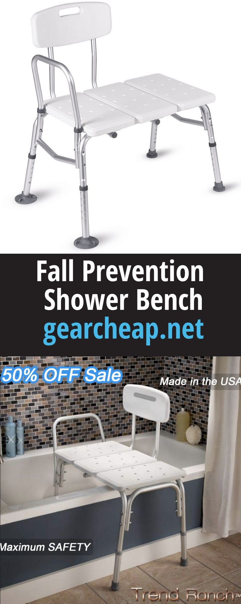Fall Prevention Shower Bench in 2020 Shower bench, Fall