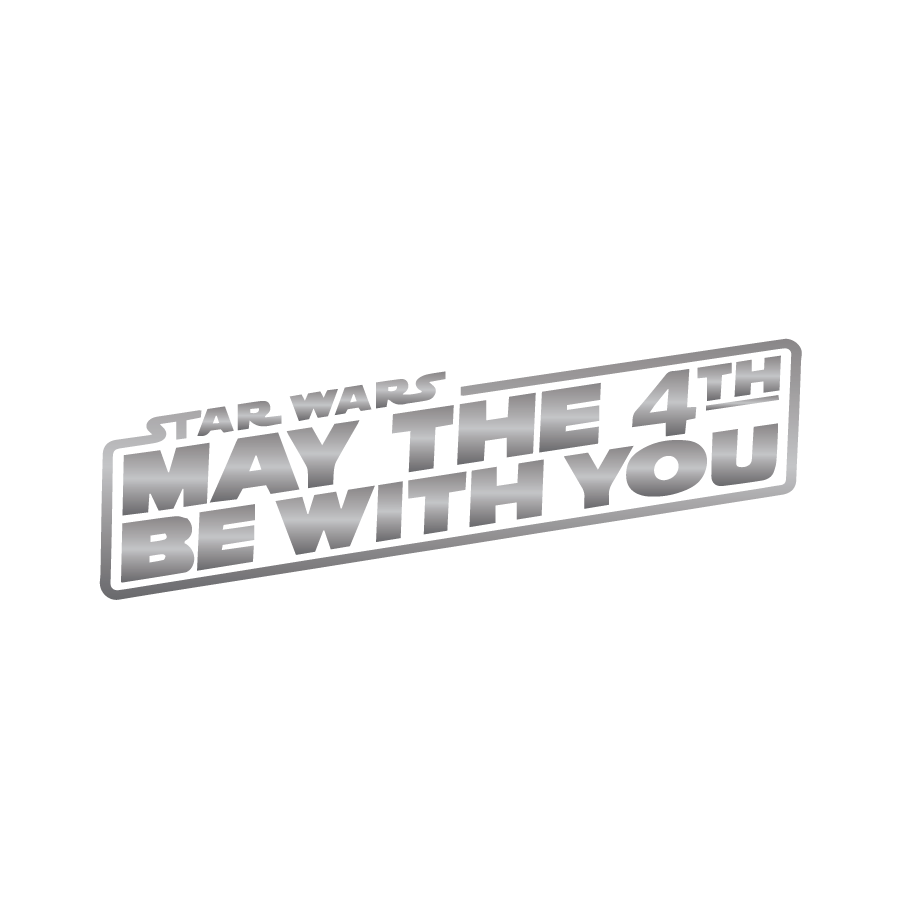 Star Wars May The 4th Be With You Silver May The 4th Be With You Star Wars May The 4th
