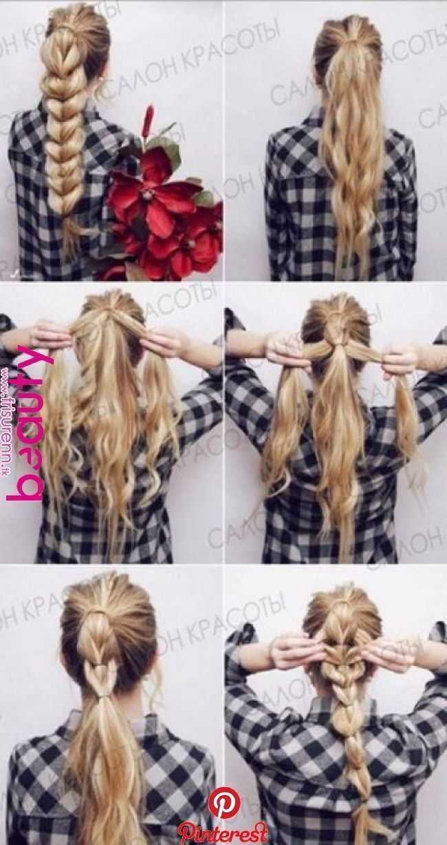 56 Quick and Easy Hairstyles (Step-by-step) #easyhairstyles #stepbystephairstyle | Hair, Hair...