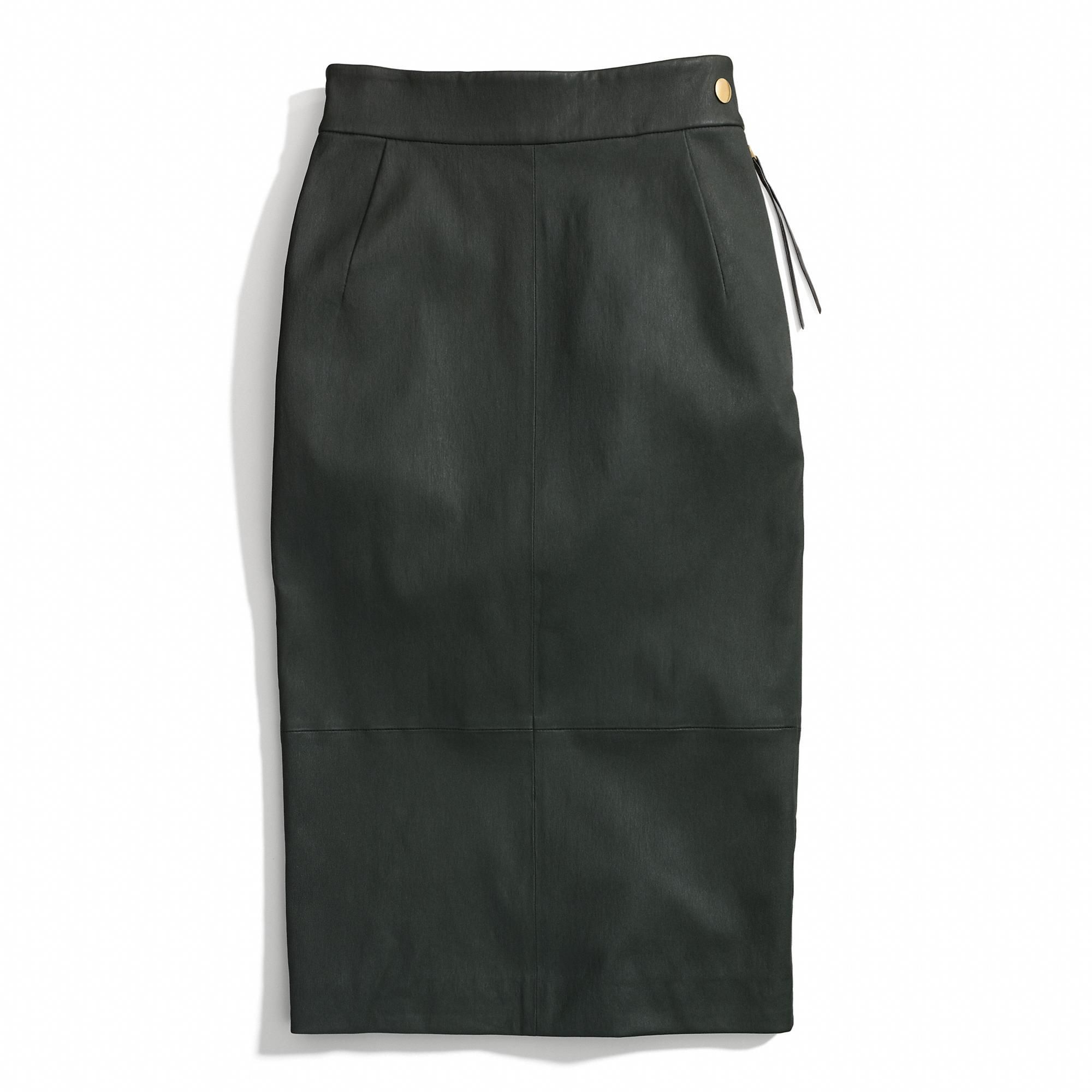 The Leather Sexy Skirt from Coach