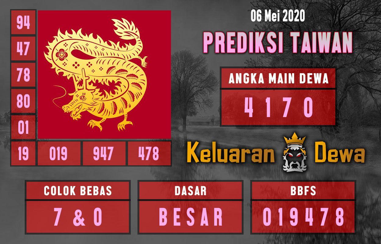 Prediksi Keluaran Taiwan Rabu 6 Mei 2020 Terjitu di 2020   Taiwan. Sydney. Dewi bulan