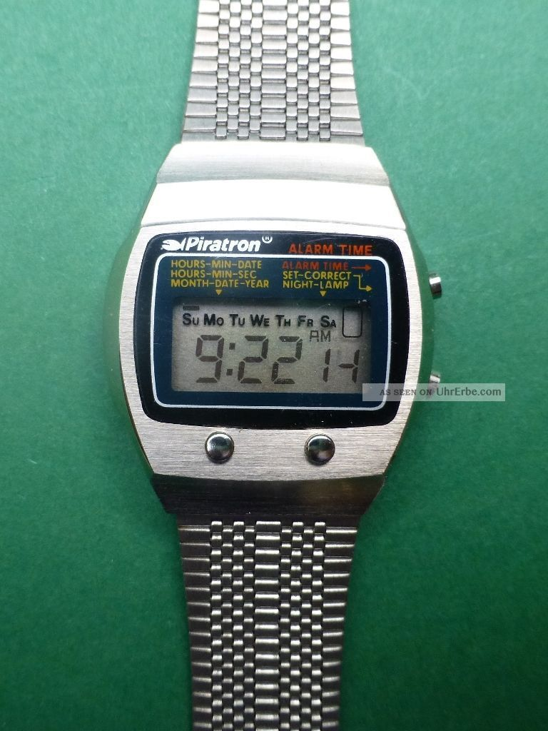 d3a5a7592a0f Piratron P - 227a Lcd Quarzuhr Armbanduhr Vintage 3676 Armbanduhren Bild